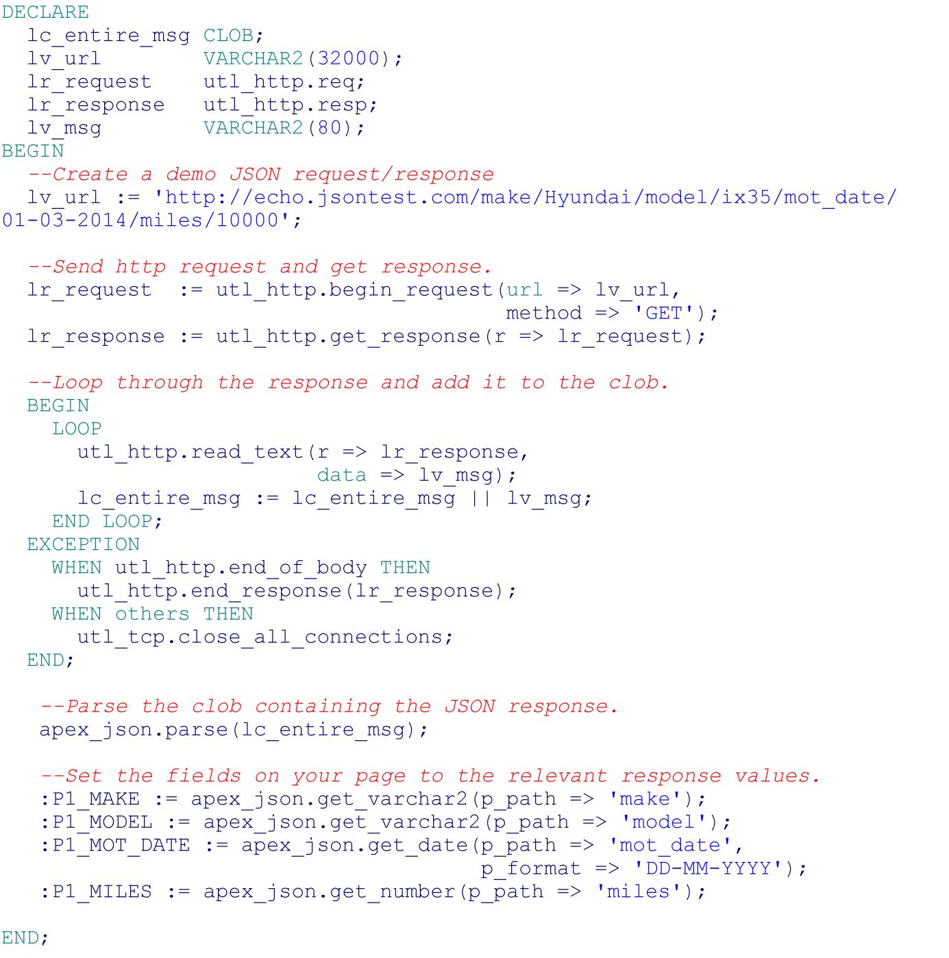 Parsing JSON in APEX 5 0 – Explorer UK