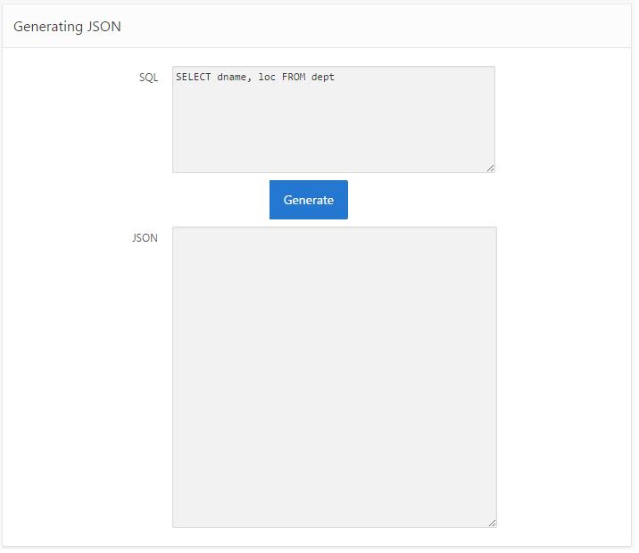 Generating JSON in APEX 5 0 – Explorer UK