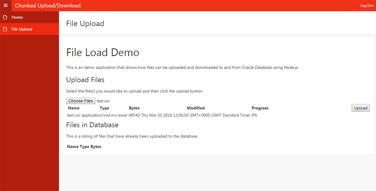 Chunked Upload and Download in APEX – Explorer UK
