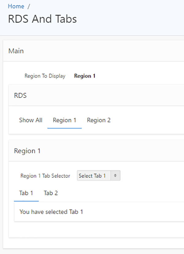 Dynamic Selection of Tabs and Region Display Selectors in APEX