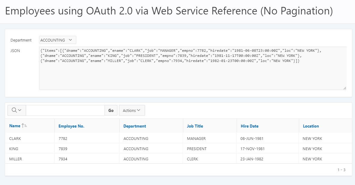ORDS, OAuth2 & Web Services in APEX – Part 3 – Explorer UK