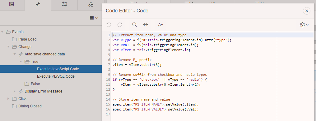 Add True Javascript Event Action